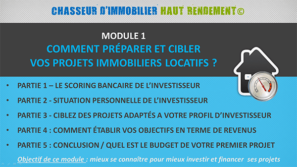 Module1-chasseur Formation Immobilier