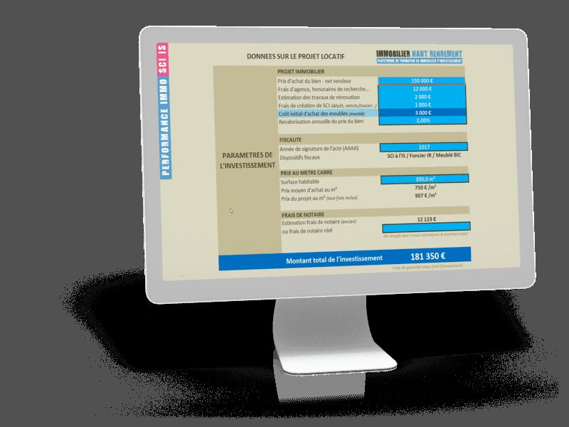 ecran-simulateur-sci-PROJET Formation Immobilier