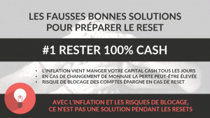 rester cash - fausse bonne solution
